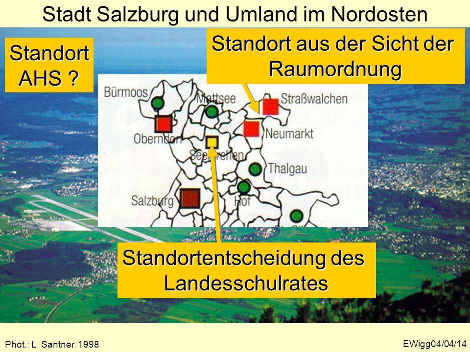 Stadt Salzburg und Umland im Nordosten