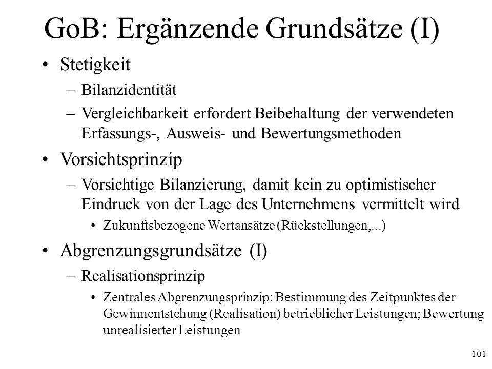 GoB: Ergänzende Grundsätze (I)