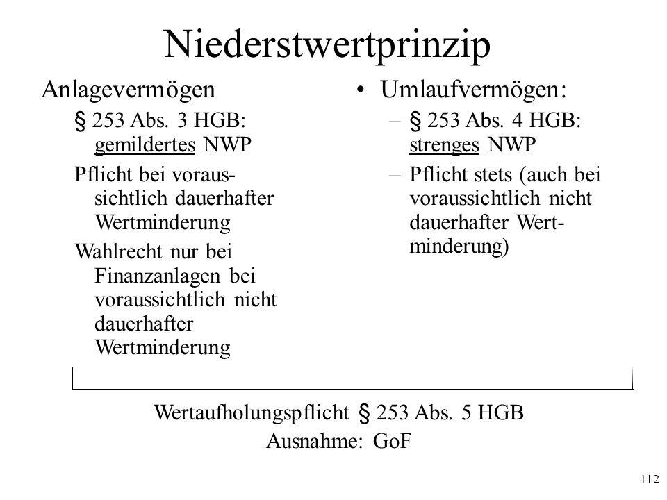 Wertaufholungspflicht § 253 Abs. 5 HGB