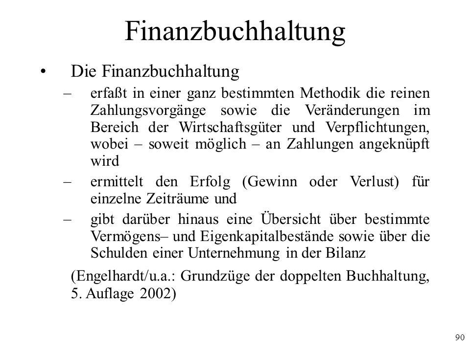Finanzbuchhaltung Die Finanzbuchhaltung