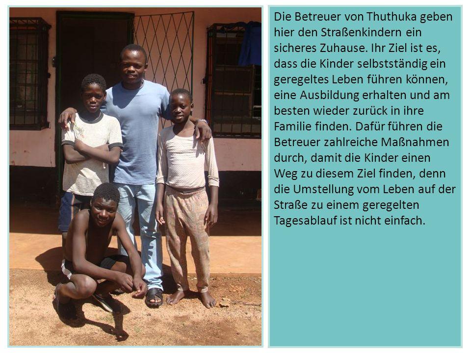 Die Betreuer von Thuthuka geben hier den Straßenkindern ein sicheres Zuhause.