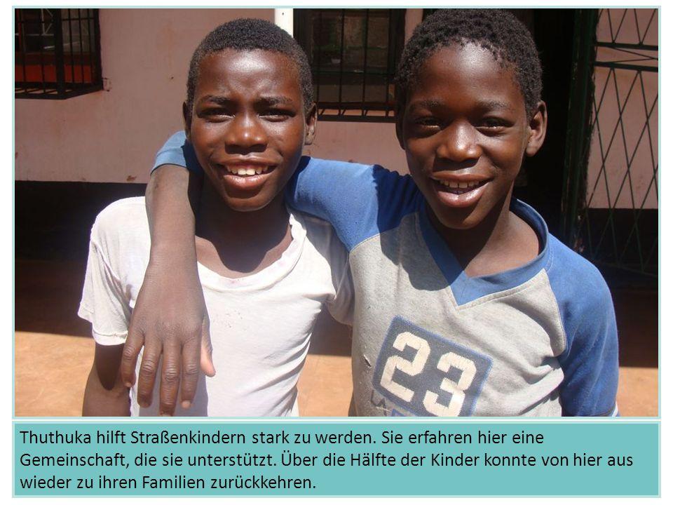 Thuthuka hilft Straßenkindern stark zu werden