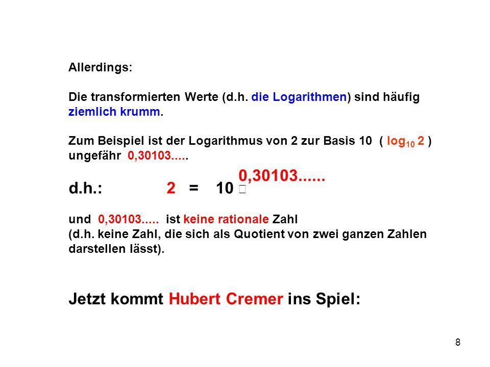 Jetzt kommt Hubert Cremer ins Spiel: