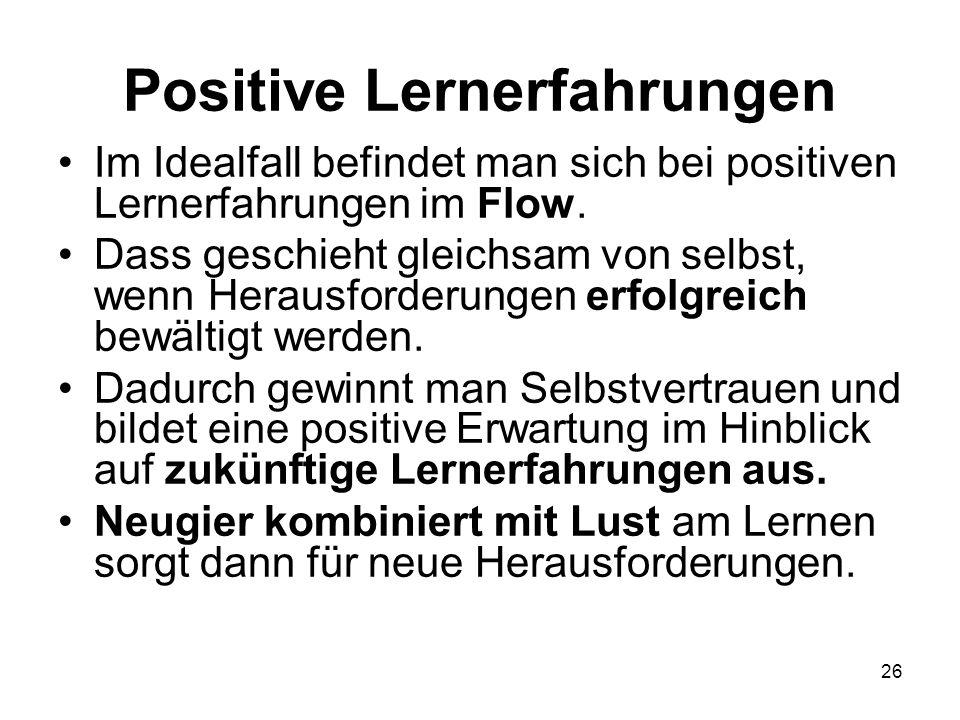 Positive Lernerfahrungen