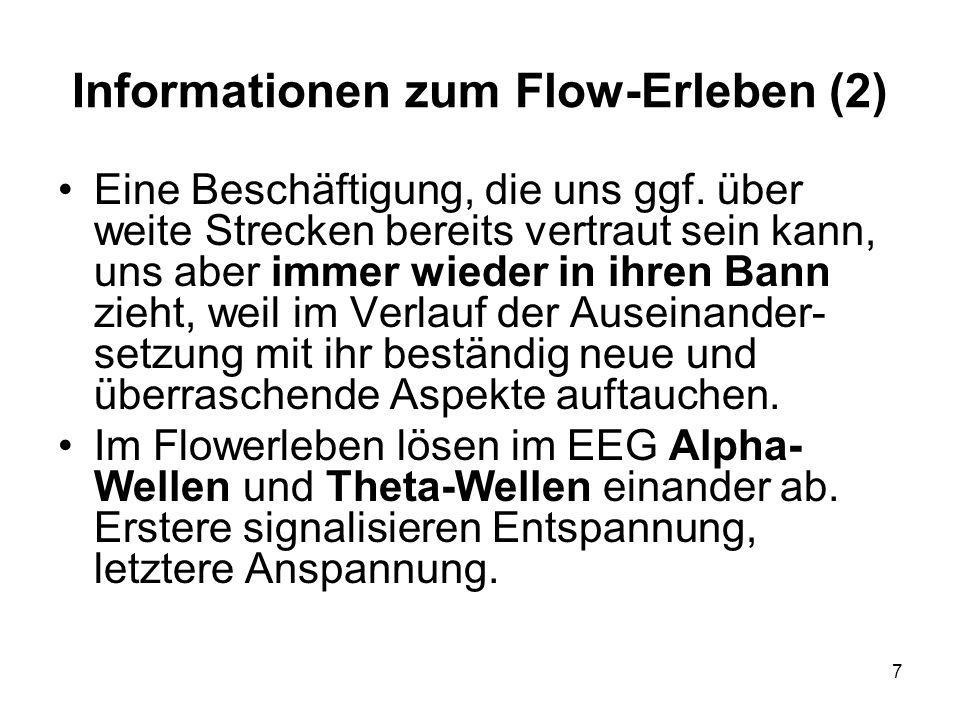 Informationen zum Flow-Erleben (2)