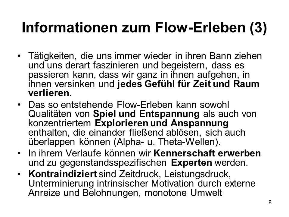 Informationen zum Flow-Erleben (3)