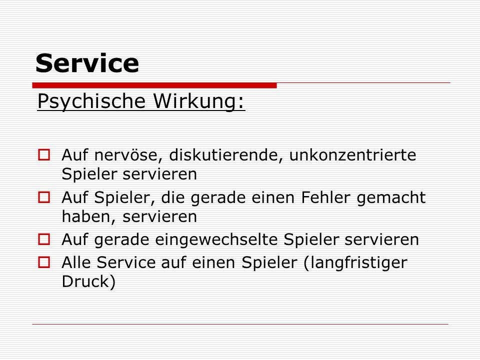 Service Psychische Wirkung: