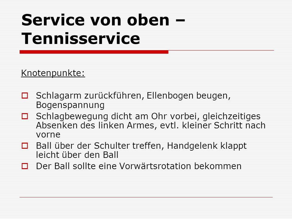 Service von oben – Tennisservice