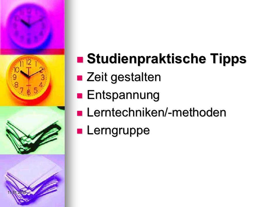 Studienpraktische Tipps