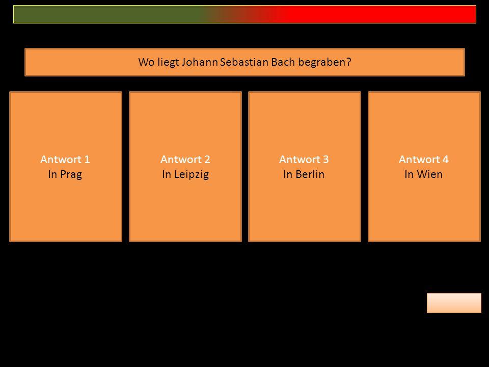 Wo liegt Johann Sebastian Bach begraben