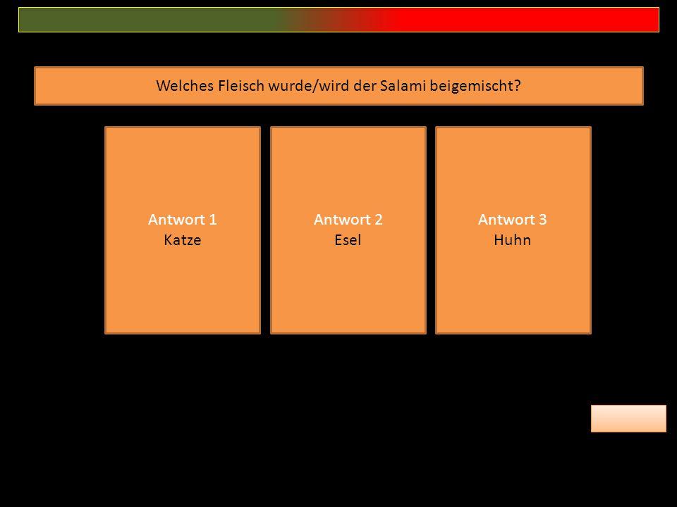 Welches Fleisch wurde/wird der Salami beigemischt