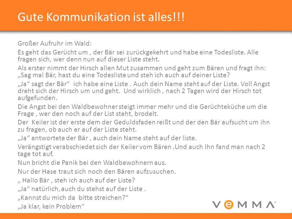 Gute Kommunikation ist alles!!!