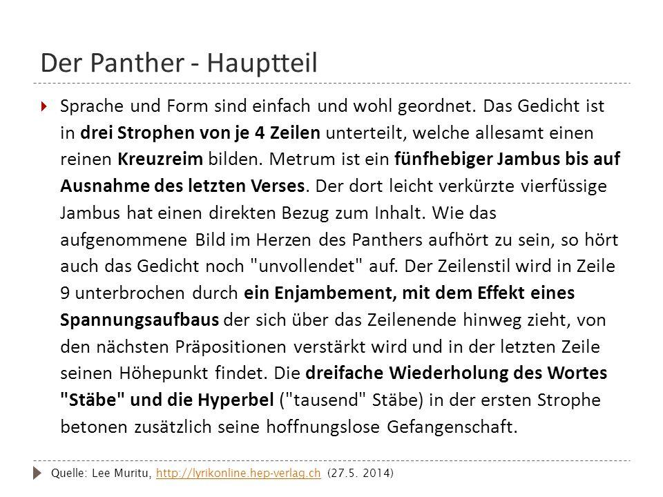 Der Panther - Hauptteil