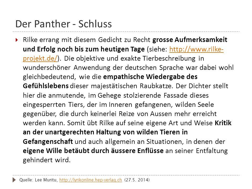 Der Panther - Schluss