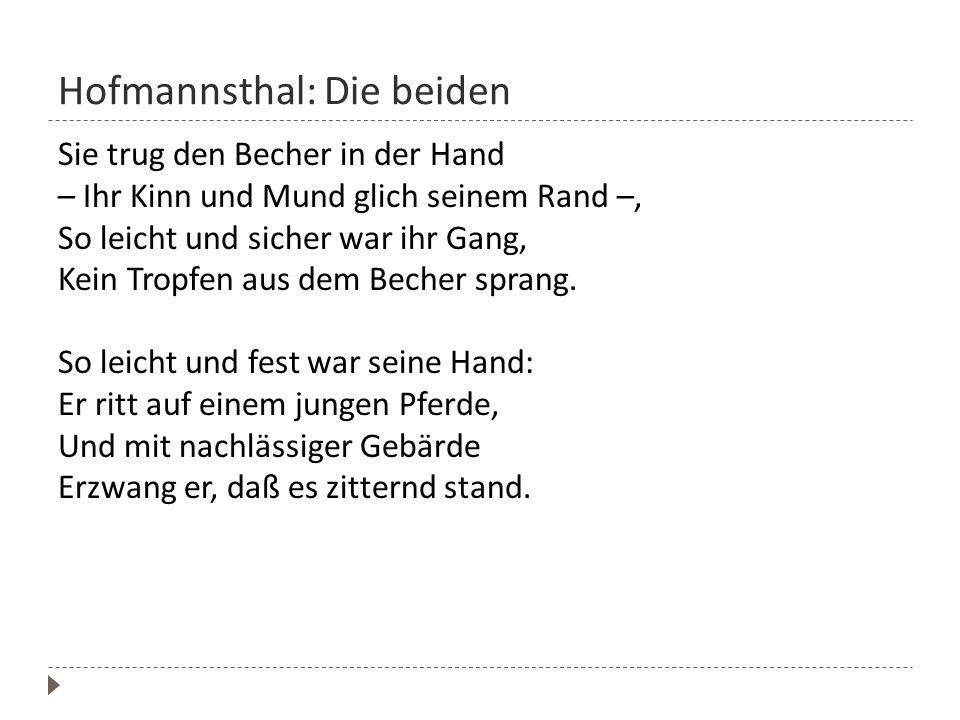 Hofmannsthal: Die beiden