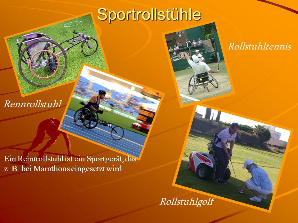 Sportrollstühle Rollstuhltennis Rennrollstuhl Rollstuhlgolf