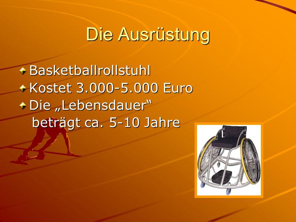 Die Ausrüstung Basketballrollstuhl Kostet 3.000-5.000 Euro
