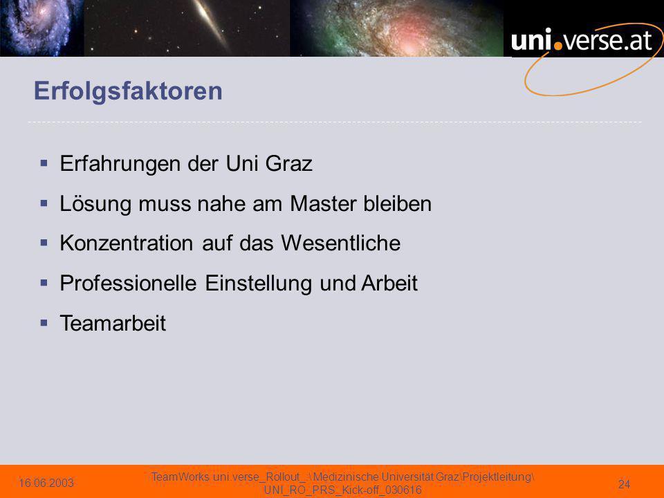 Erfolgsfaktoren Erfahrungen der Uni Graz