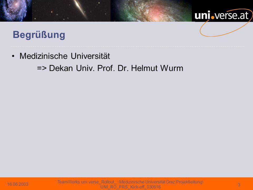 Begrüßung Medizinische Universität