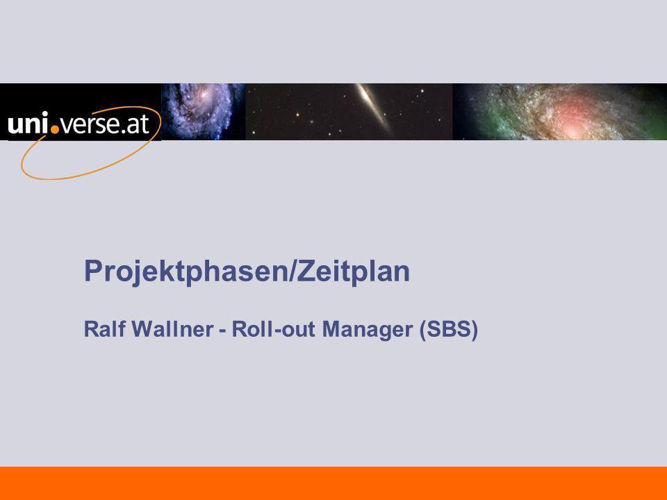 Projektphasen/Zeitplan Ralf Wallner - Roll-out Manager (SBS)