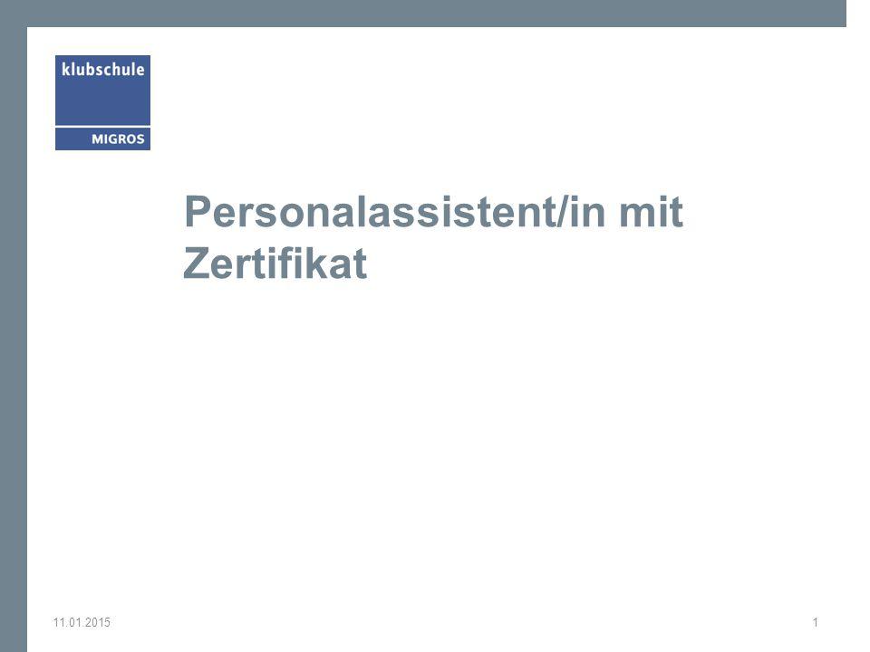 Personalassistent/in mit Zertifikat