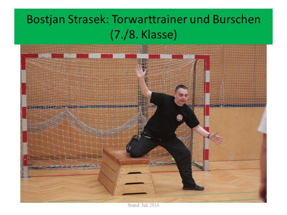 Bostjan Strasek: Torwarttrainer und Burschen (7./8. Klasse)
