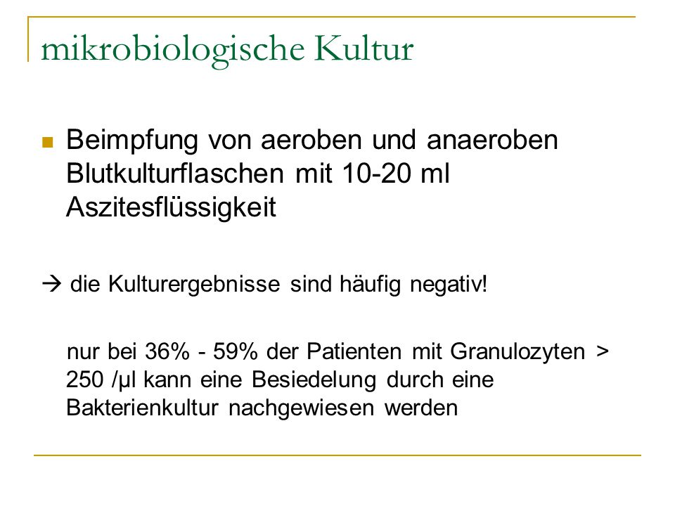 mikrobiologische Kultur