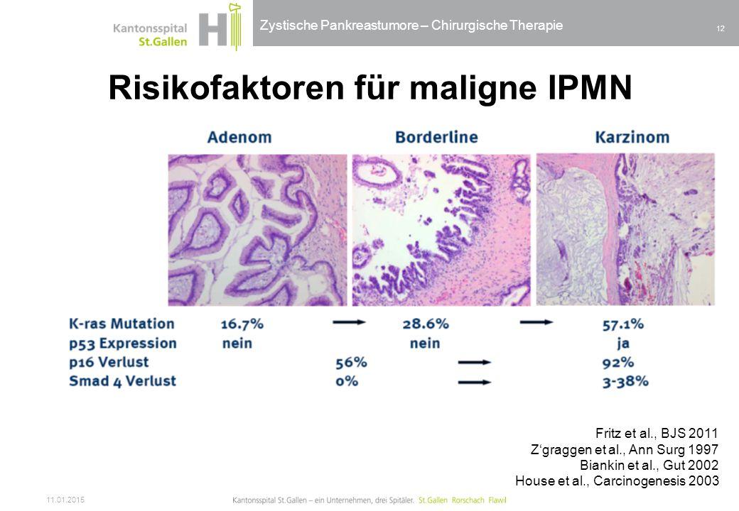 Risikofaktoren für maligne IPMN