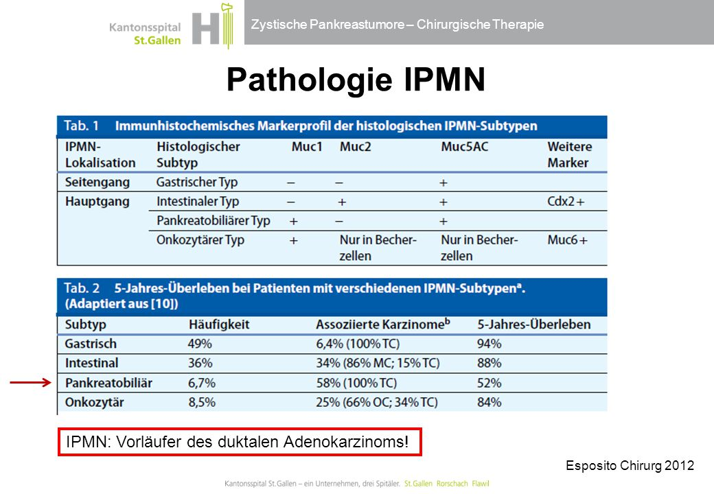 Pathologie IPMN IPMN: Vorläufer des duktalen Adenokarzinoms!