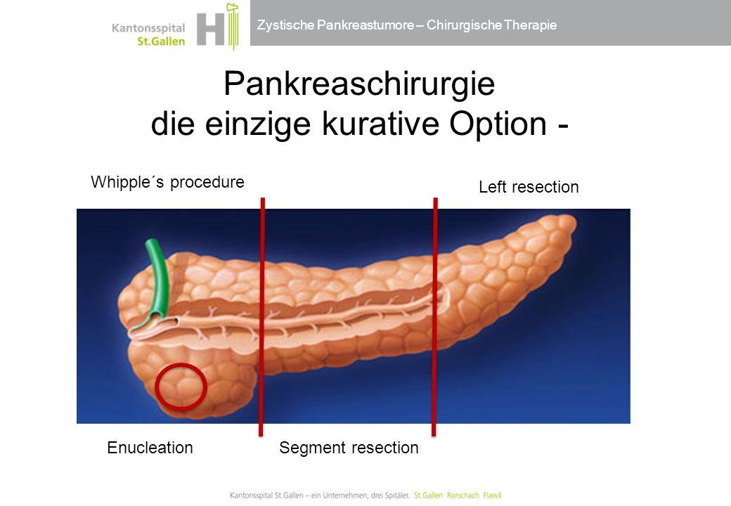 Pankreaschirurgie die einzige kurative Option -
