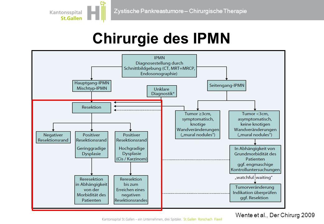 Chirurgie des IPMN Wente et al., Der Chirurg 2009
