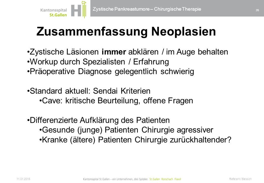 Zusammenfassung Neoplasien