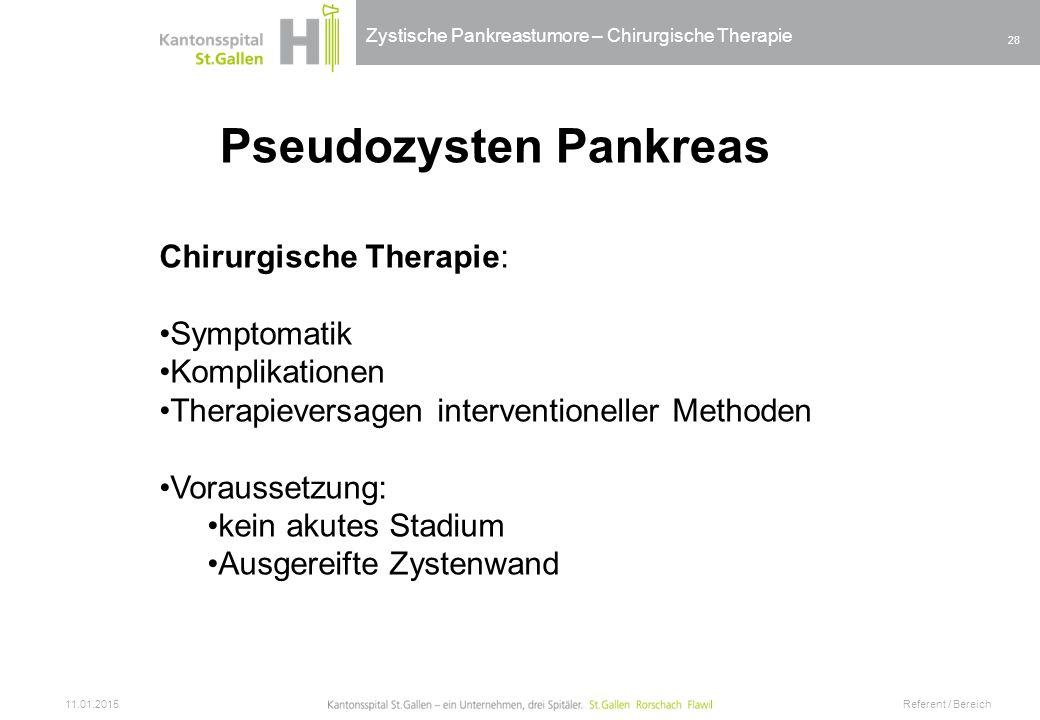 Pseudozysten Pankreas
