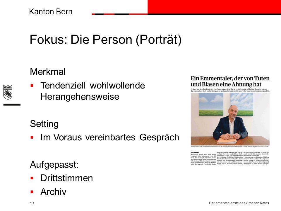 Fokus: Die Person (Porträt)