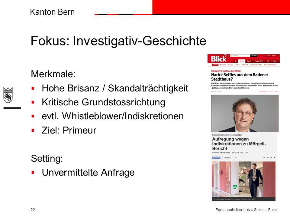 Fokus: Investigativ-Geschichte
