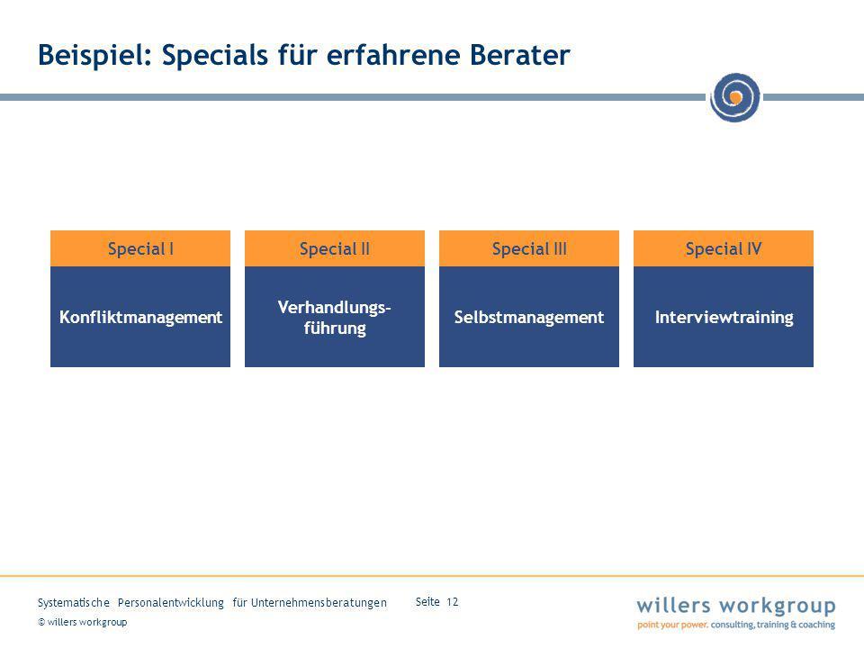 Beispiel: Specials für erfahrene Berater