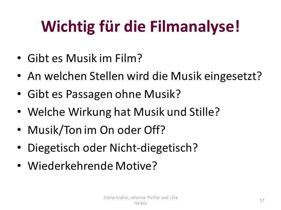 Wichtig für die Filmanalyse!