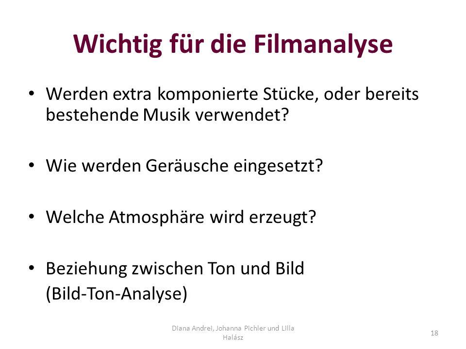 Wichtig für die Filmanalyse
