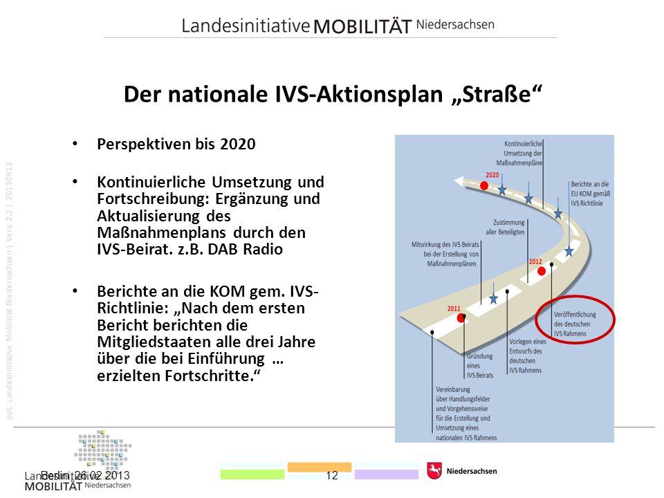 """Der nationale IVS-Aktionsplan """"Straße"""