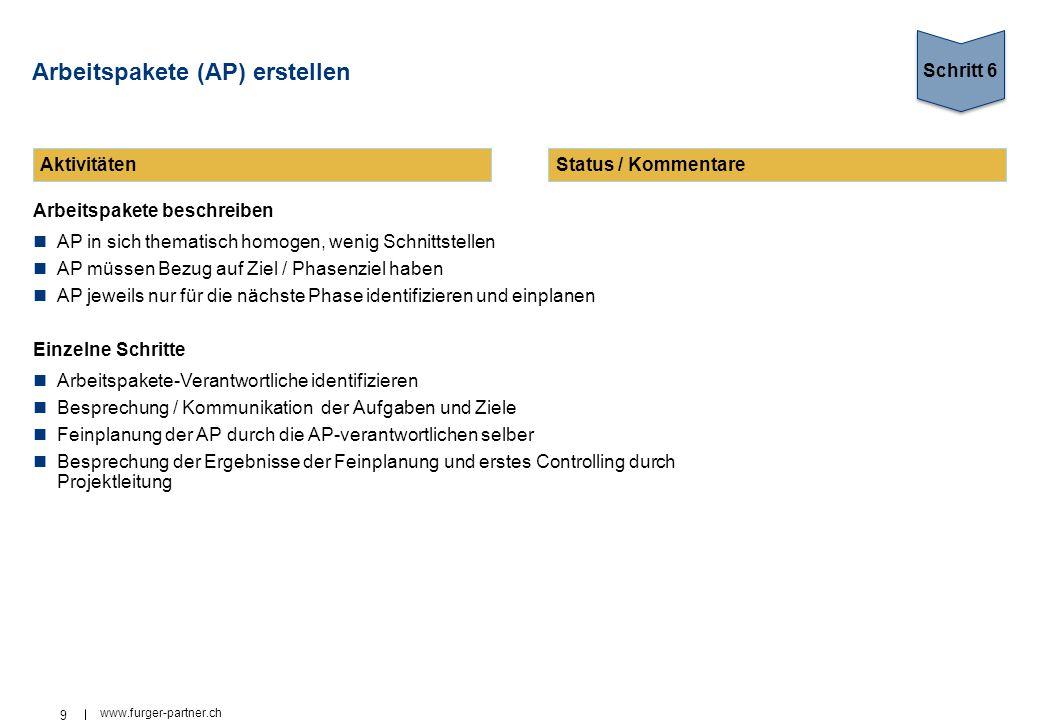 Arbeitspakete (AP) erstellen