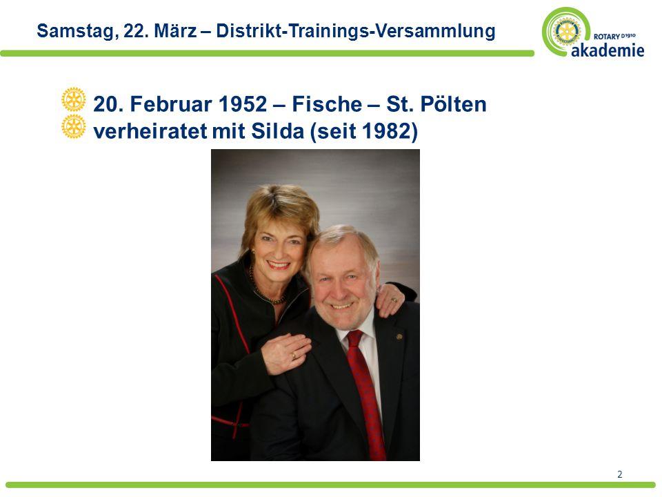 20. Februar 1952 – Fische – St. Pölten