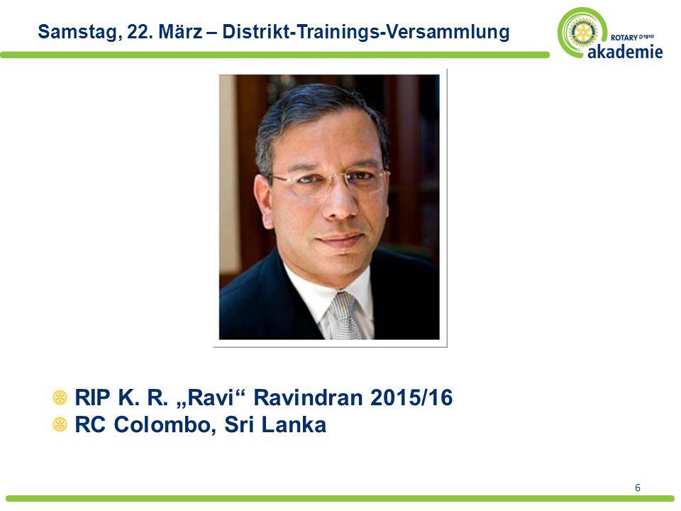 """RIP K. R. """"Ravi Ravindran 2015/16 RC Colombo, Sri Lanka"""