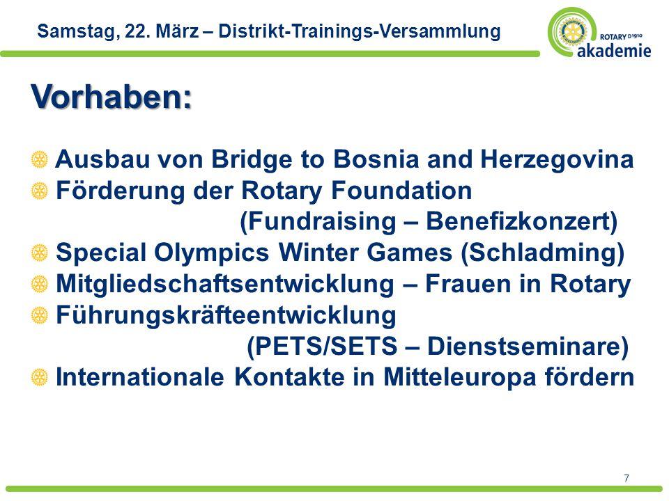Vorhaben: Ausbau von Bridge to Bosnia and Herzegovina