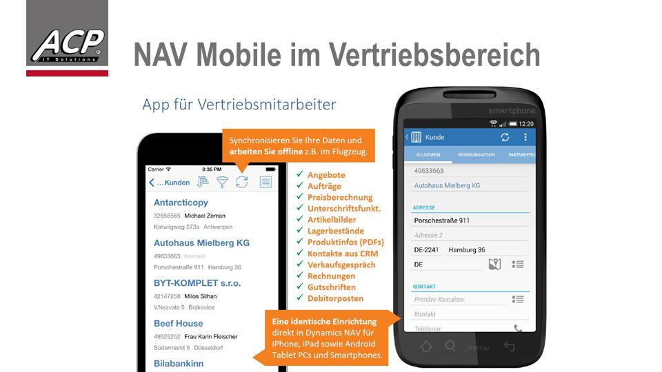 NAV Mobile im Vertriebsbereich
