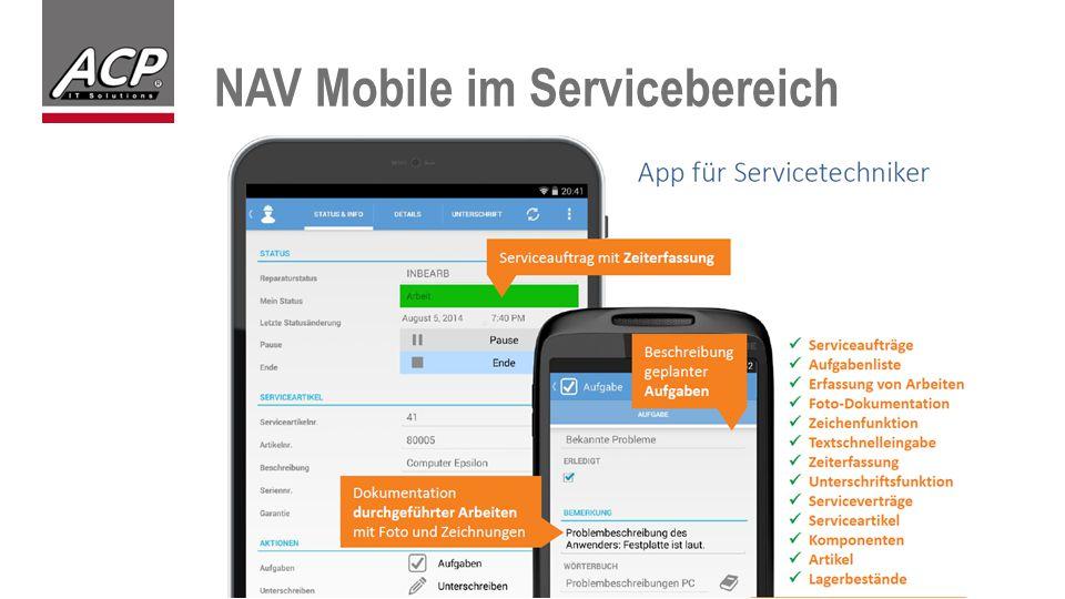 NAV Mobile im Servicebereich
