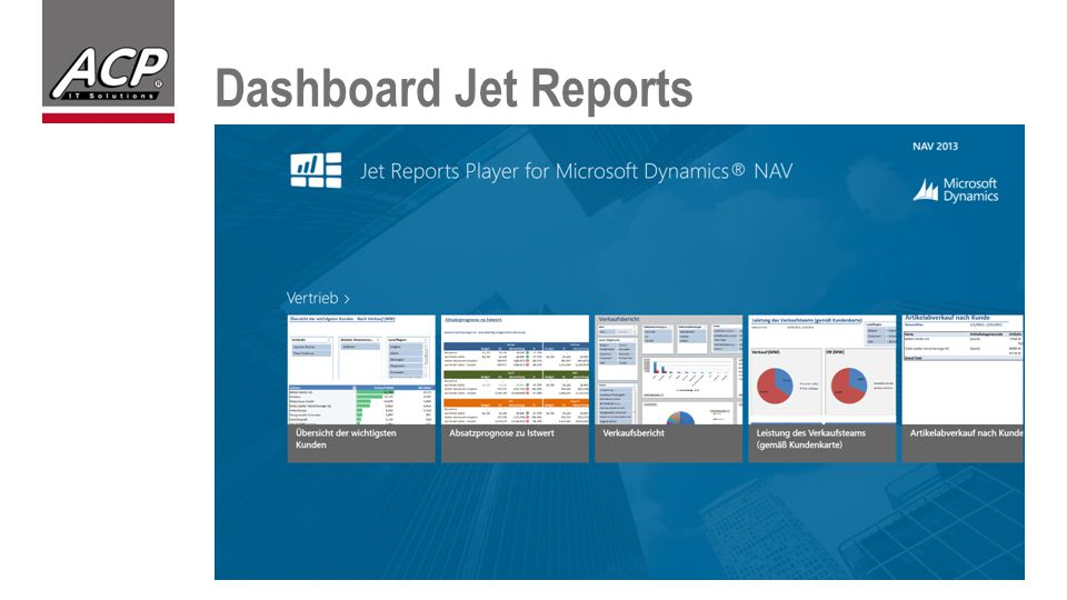 Dashboard Jet Reports
