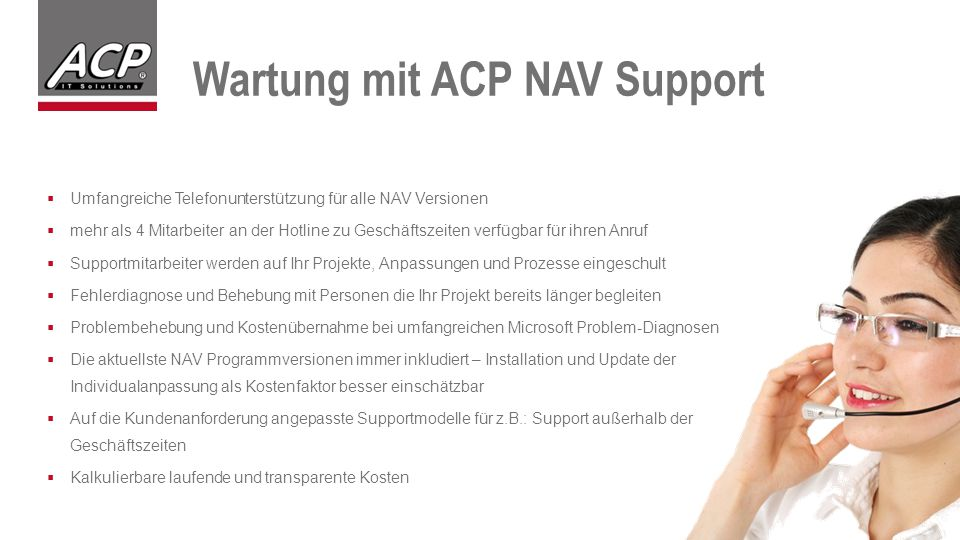 Wartung mit ACP NAV Support