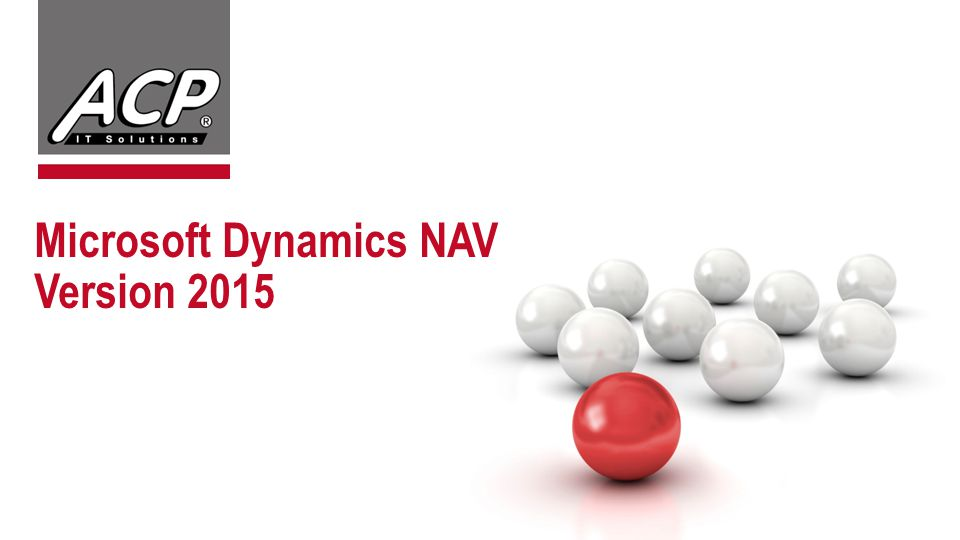 Microsoft Dynamics NAV Version 2015