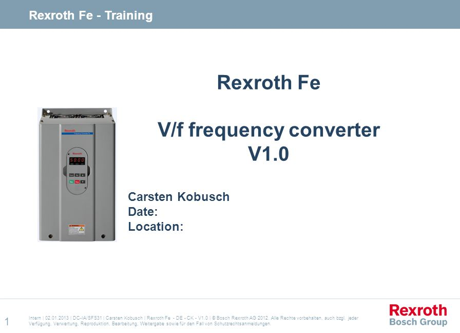 V/f frequency converter