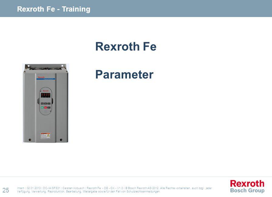 Rexroth Fe Parameter Rexroth Fe - Training